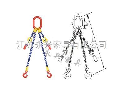 组装型T8级进出口二肢链条索具