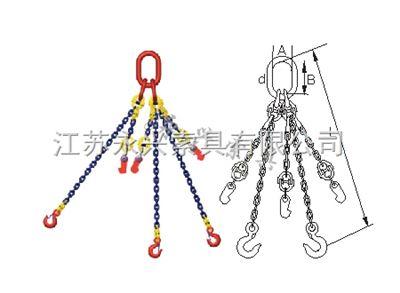 组装型T8级永兴索具永腾牌三肢链条索具