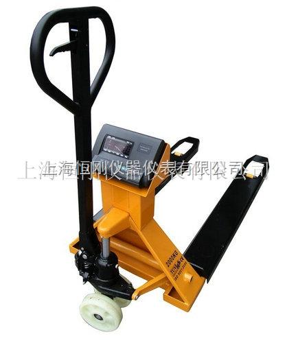 上海耀华搬运电子叉车秤 叉货地牛称2吨