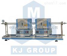 小型雙爐體滑動管式爐TCVD--OTF-1200X-S2-50SL