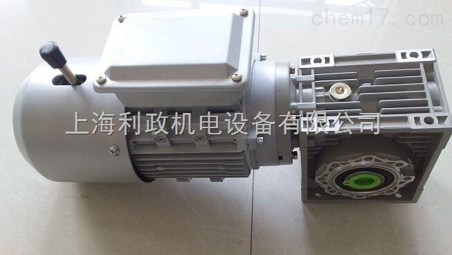 利政立式750W制动刹车蜗轮蜗杆减速电机