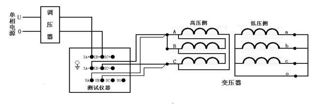 变压器类设备 变压器特性参数测试仪  接好线后调节调压器给bc相加压