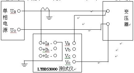(图十)单相变压器外接电流互感器测量接线方法