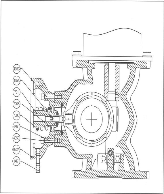 柱塞计量泵进出口单向阀结构图