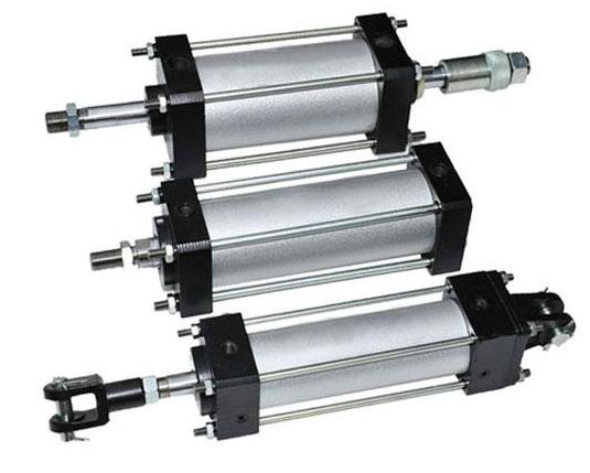型的一种产品,qgbq气缸系列为(新型大缸径)单杆双作用带缓冲无给油