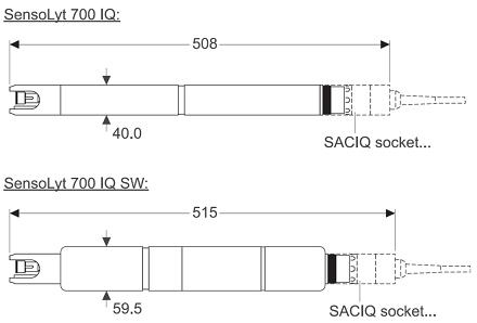 700iq iq数字ph/orp传感器组件,内置前置放大器&nbsp