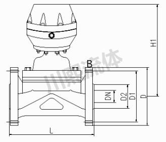盖米气动隔膜阀尺寸图