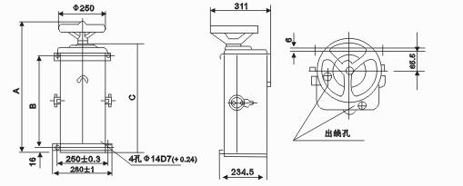 ktj1-80/3凸轮控制器 上海永上起重厂