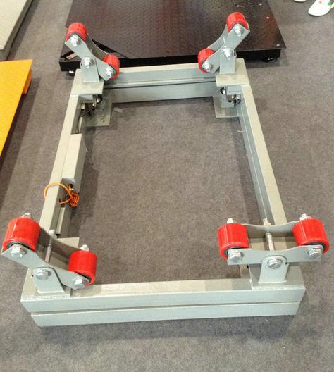 高强度秤体结构 云南3吨电子气瓶磅称价格双层结构,附有4组可调式支脚