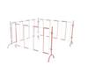 不銹鋼折疊式伸縮圍欄,鋁合金玻璃鋼組合式伸縮圍欄
